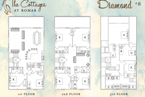 Floor Plan for Diamond at the Cottages at Romar