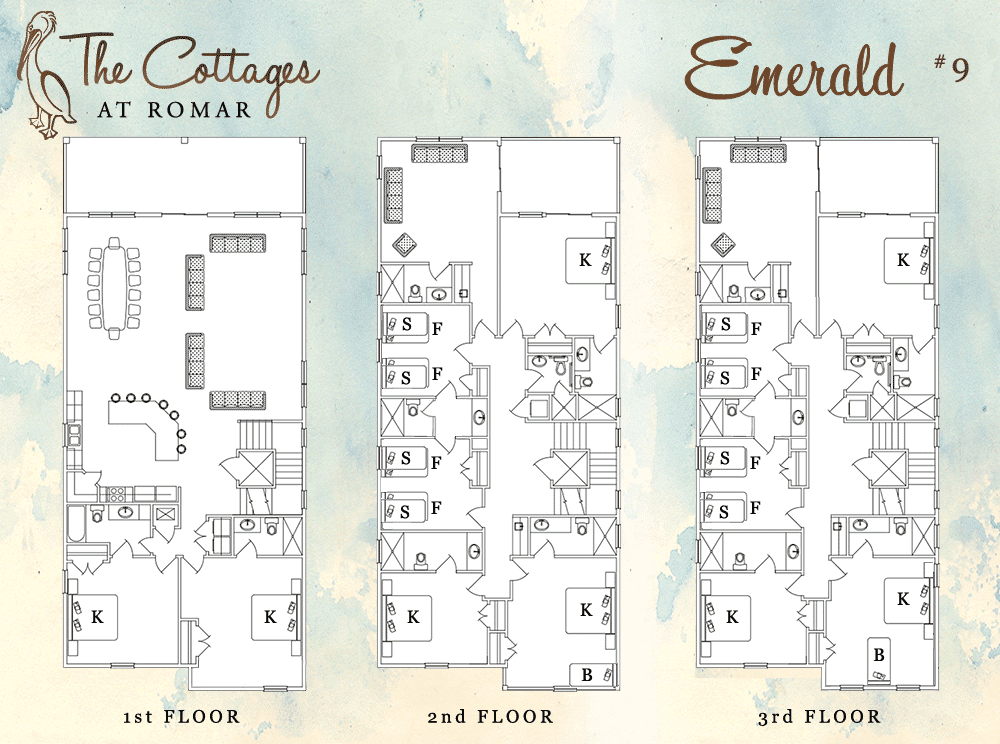 Floor Plan for Emerald at the Cottages at Romar