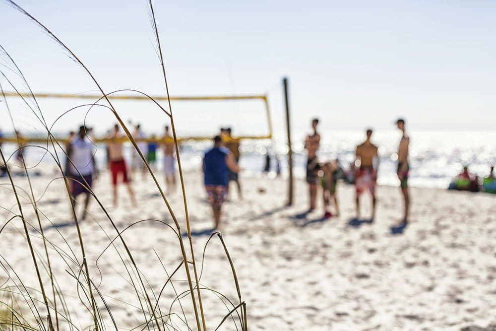 Gulf Shores Alabama Beach Vacation Home Volleyball Game Players