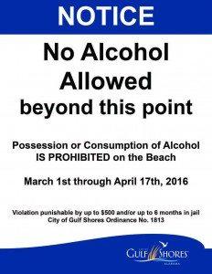 No Alcohol Gulf Shores Spring Break