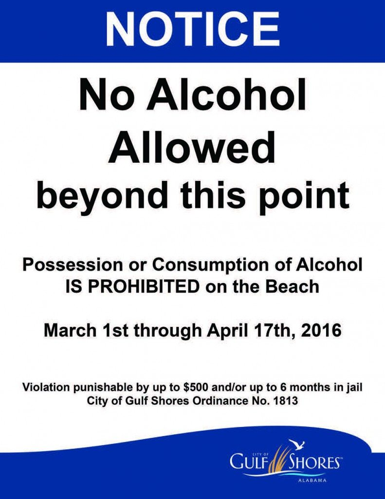 No Alcohol Gulf Shores Spring Break