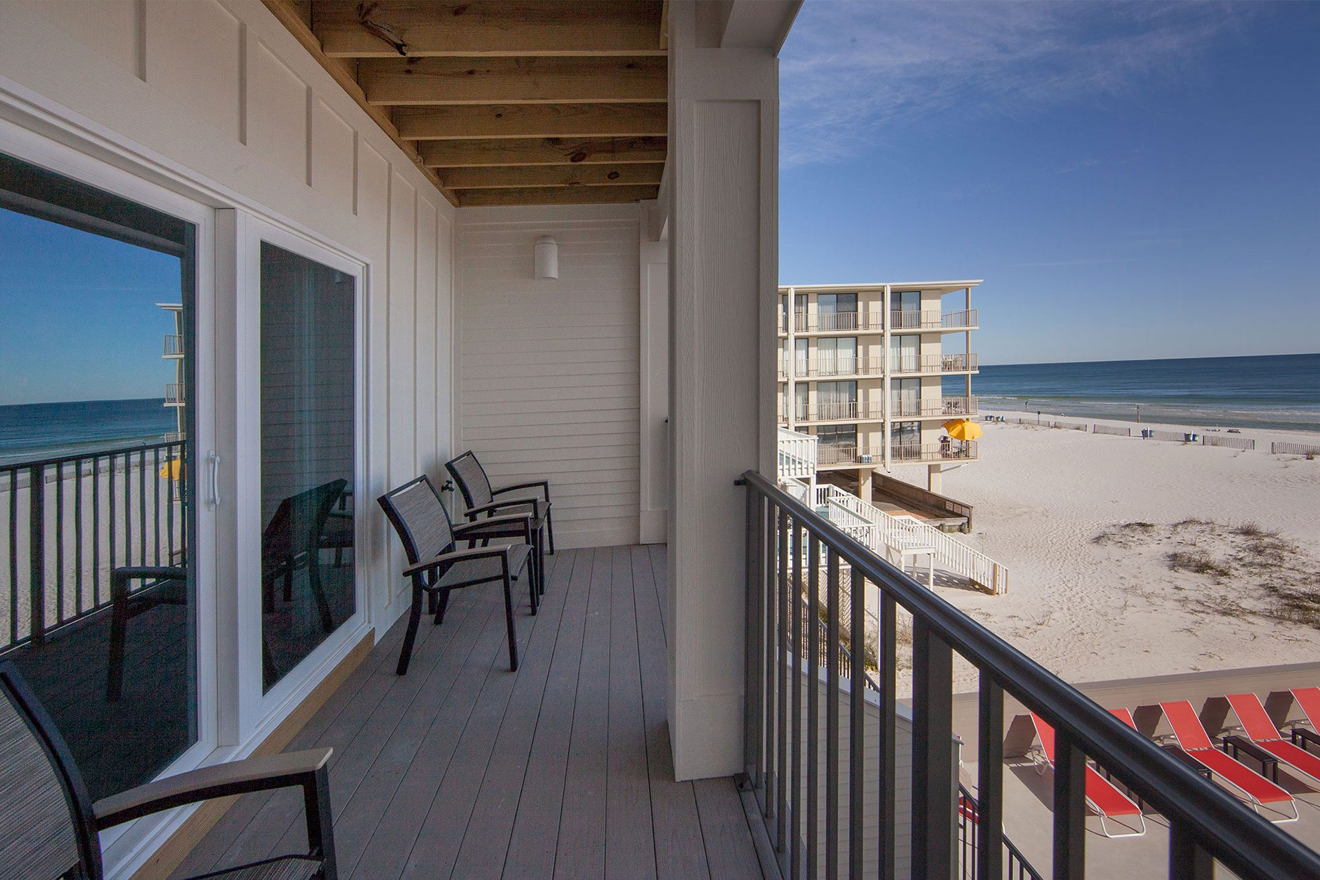Pearl w 2nd floor beachview balcony on gulf shores for Balcony 2nd floor