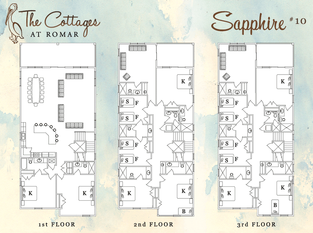 Floor Plan for Sapphire at the Cottages at Romar