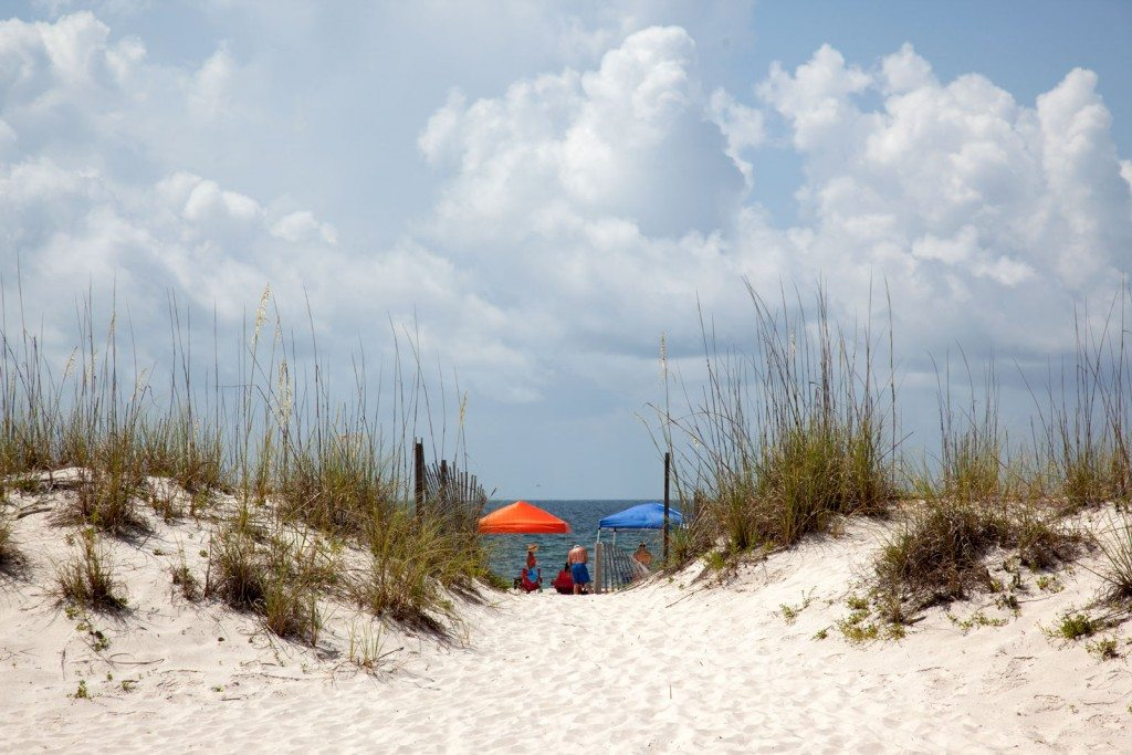 Volleyball matches in Gulf Shores stay right on the sand